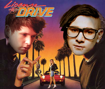 Skrillex vs. James Blake, or the dubstep License to Drive