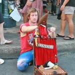 Streetside puppet show