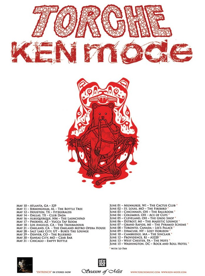 Torche and KEN Mode tour