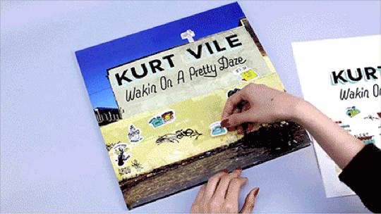 Kurt Vile sticker sheet