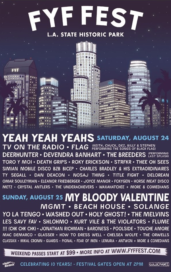 FYF Fest lineup