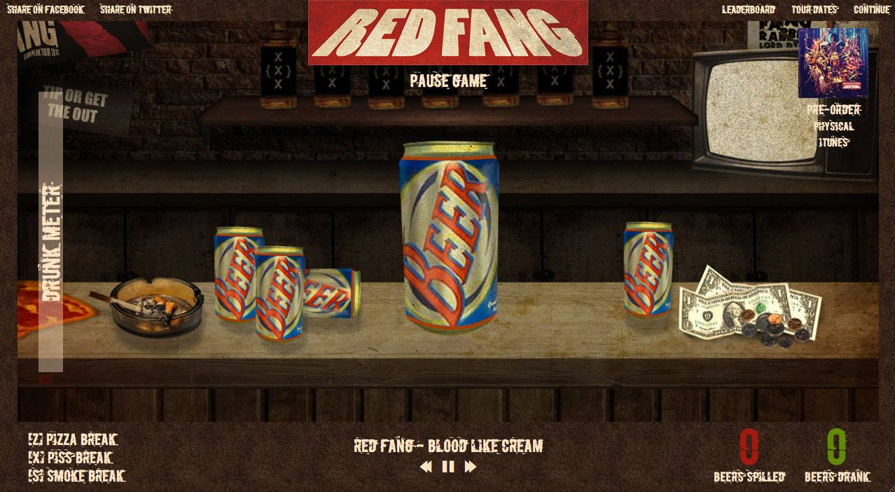 Red Fang beer chug game
