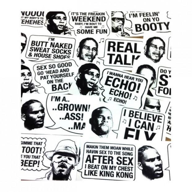 R. Kelly sticker packs