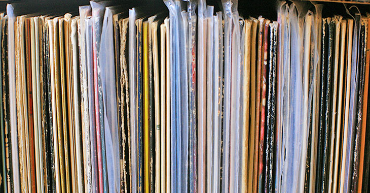 Stack of albums