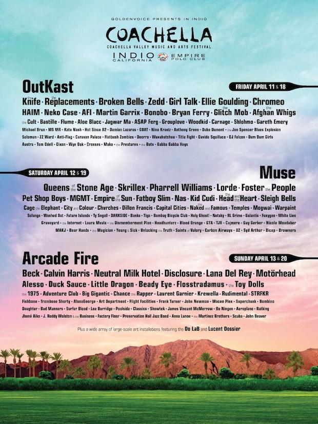 Coachella 2014 Lineup Features Outkast Arcade Fire