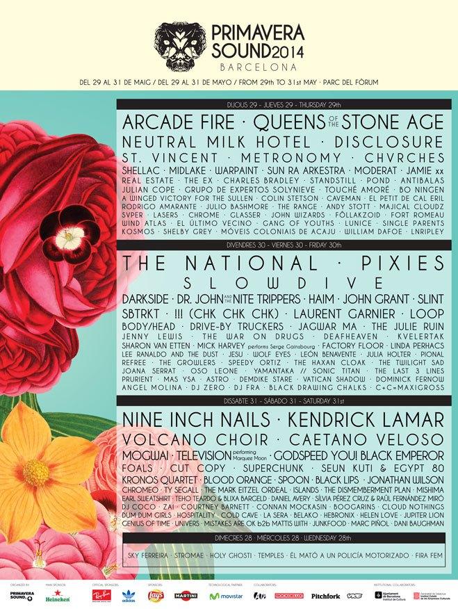 Primavera Sound 2014 lineup