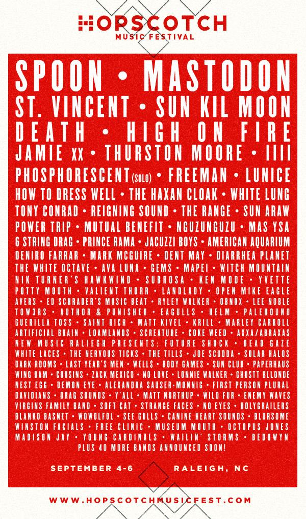 Hopscotch festival lineup