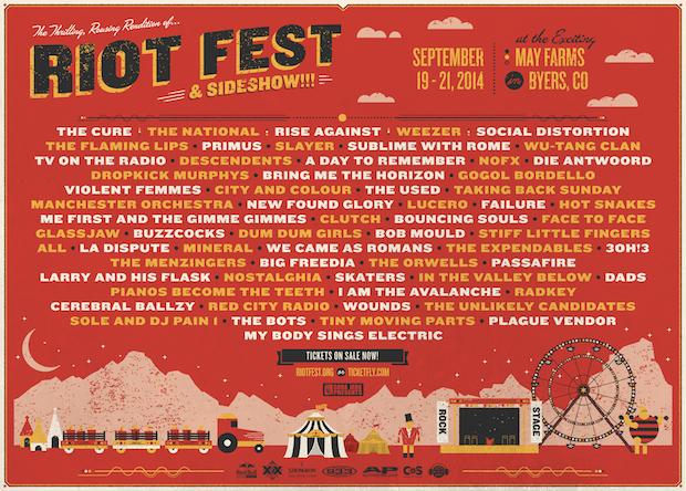 Riot Fest lineup Denver