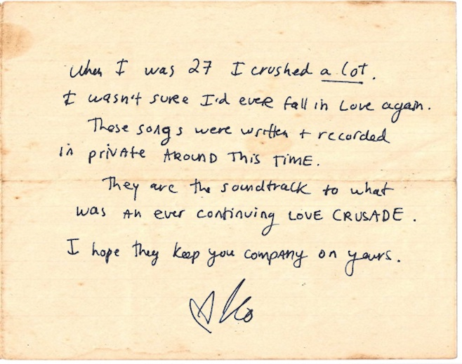 Karen O crush letter