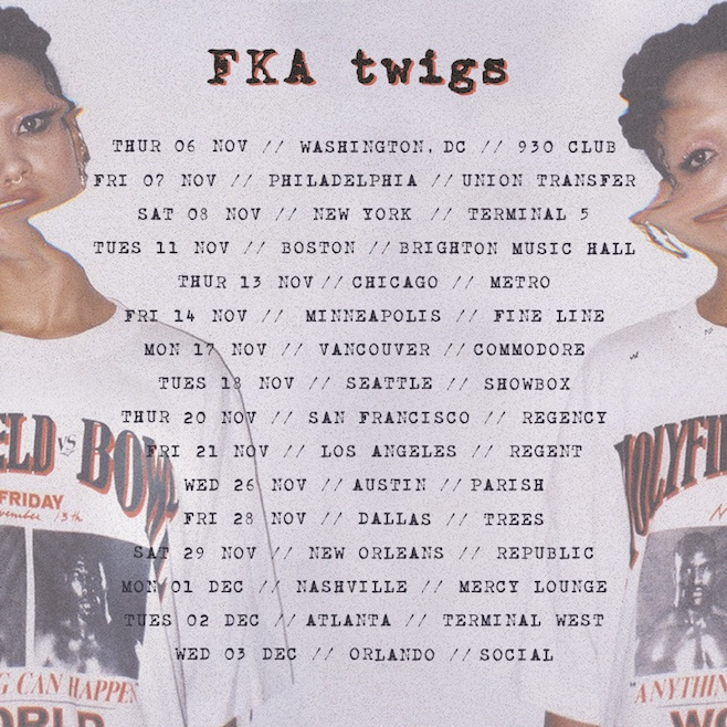 FKA Twigs tour dates