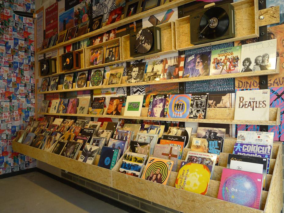 Urban Outfitters vinyl racks