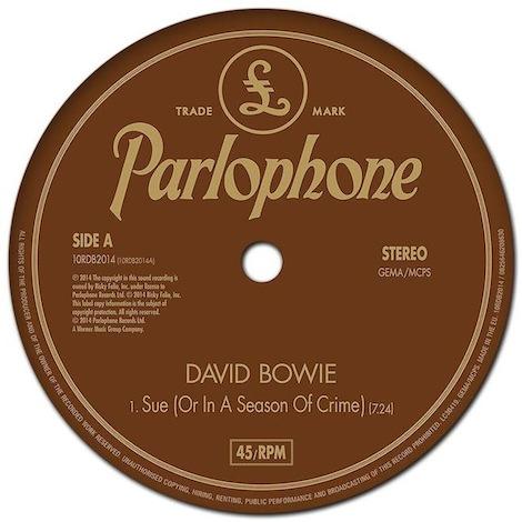 "David Bowie ""Sue (or in a Season of Crime"""