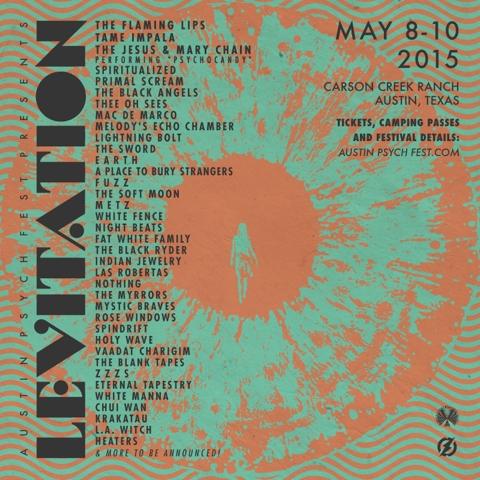 Levitation festival flyer