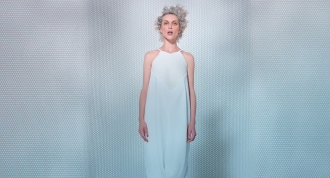 St. Vincent Birth in Reverse video