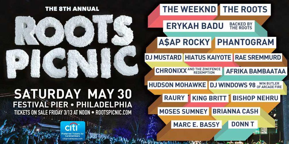 Roots Picnic 2015 lineup