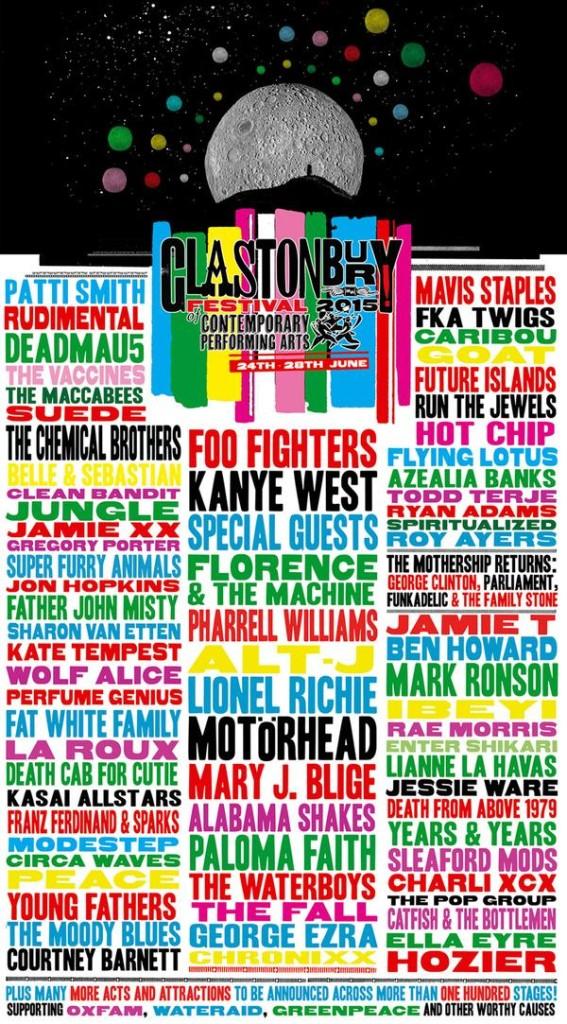 Glastonbury 2015 lineup