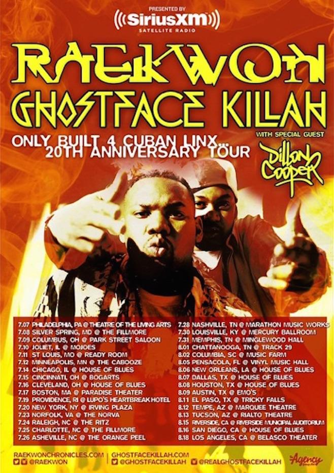 Raekwon tour dates