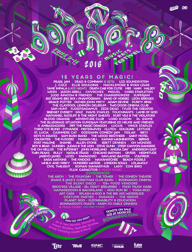 Bonnaroo 2016 lineup