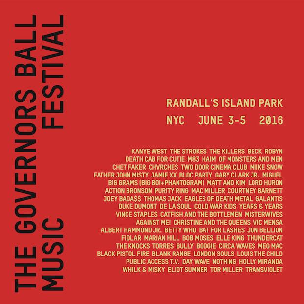 Governor's Ball 2016 lineup