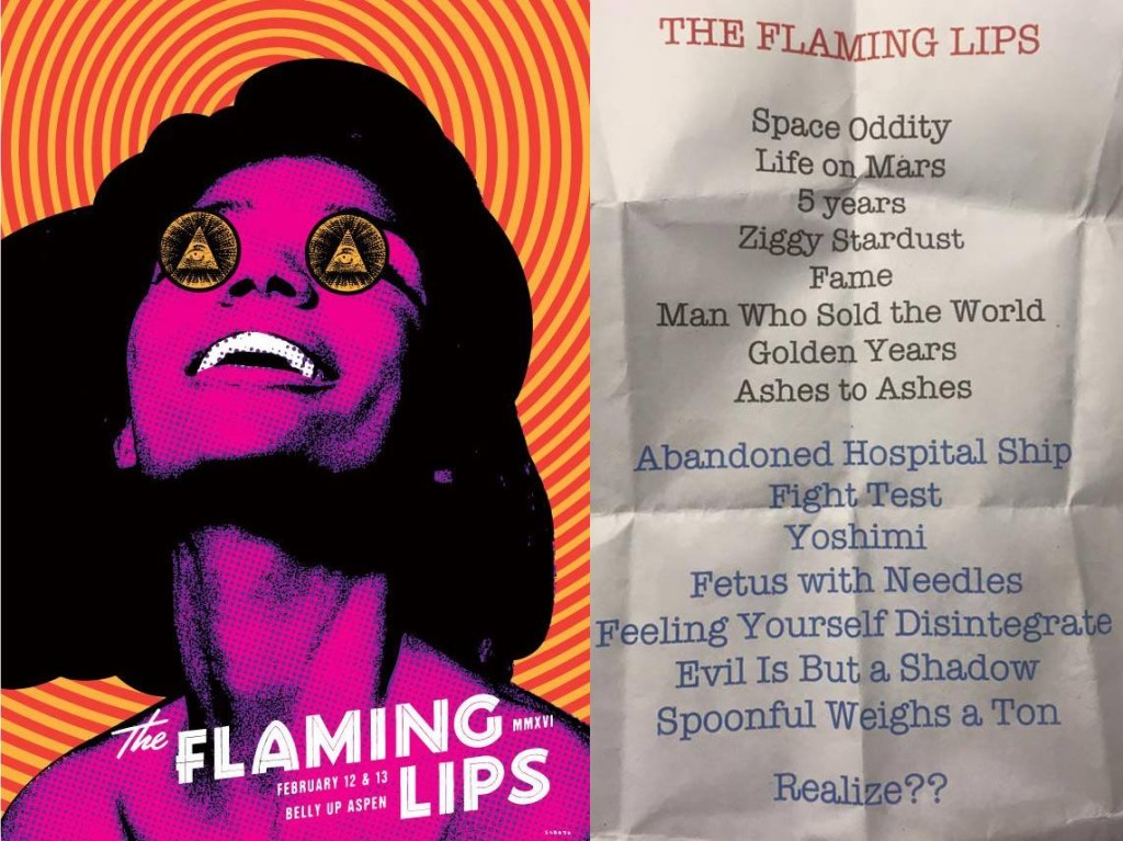 Flaming Lips Bowie cover set
