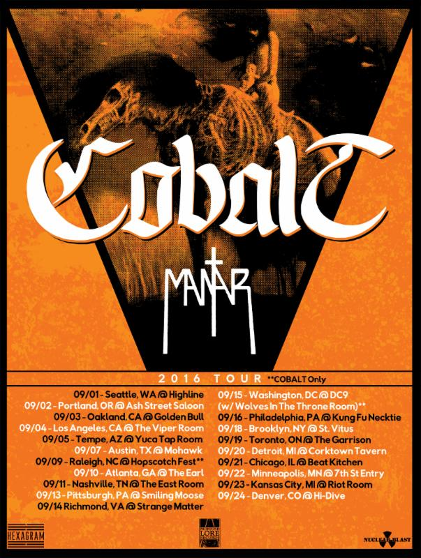 Cobalt tour dates