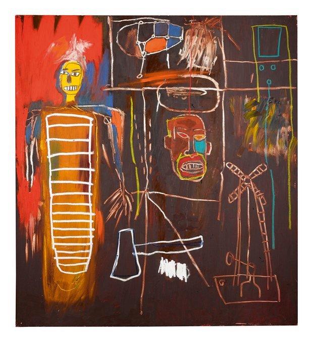 David Bowie art collection Basquiat
