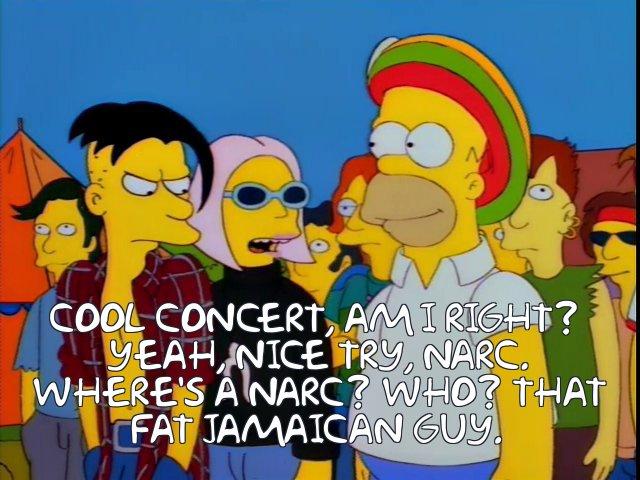 Homerpalooza fat Jamaican guy