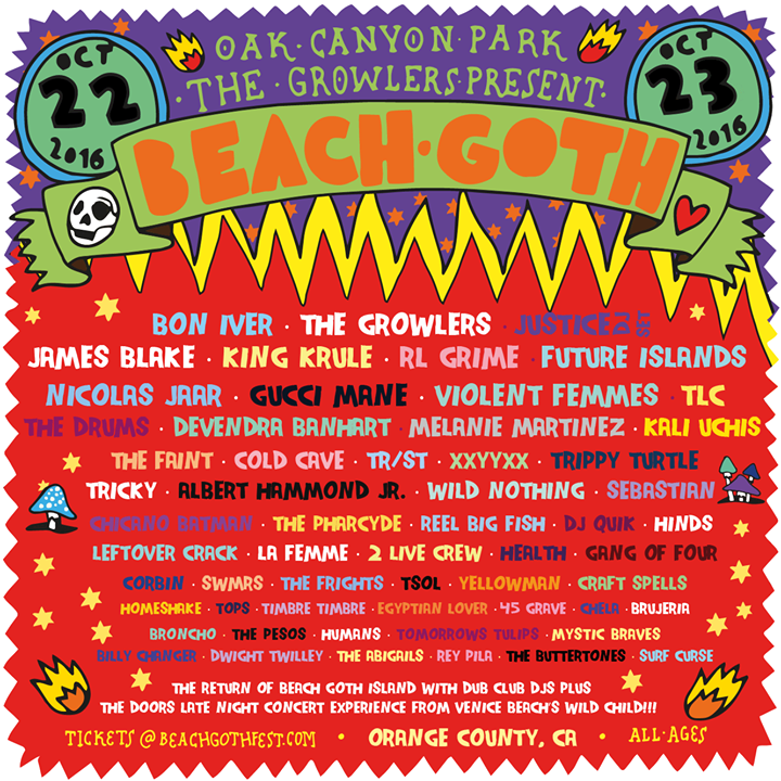 Beach Goth V lineup