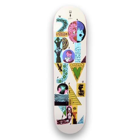 Polyvinyl skateboard