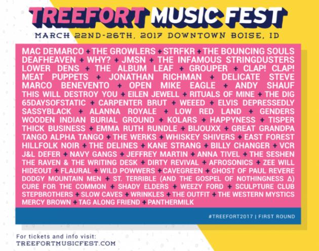 Treefort 2017 lineup