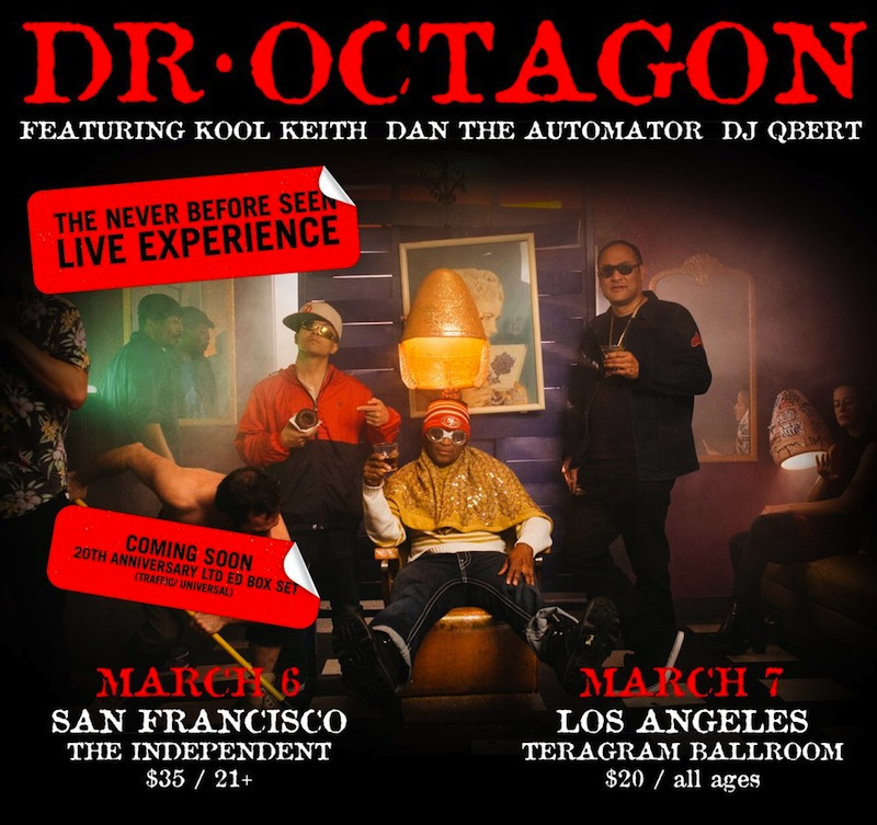 Dr. Octagon live shows