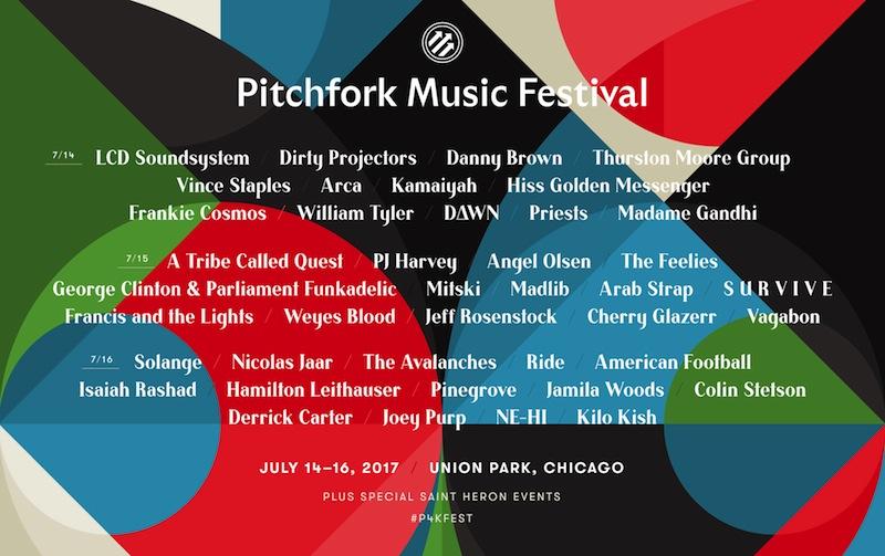 Pitchfork Fest 2017 lineup