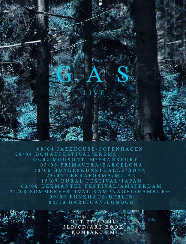 GAS new album tour dates