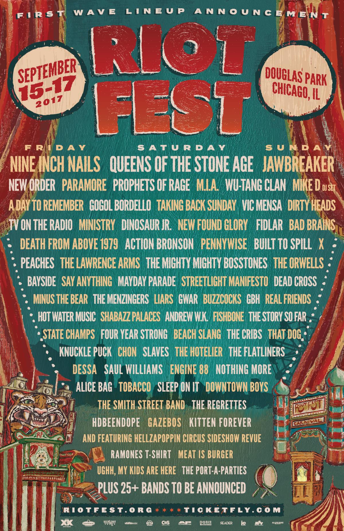 Riot Fest Chicago 2017 lineup