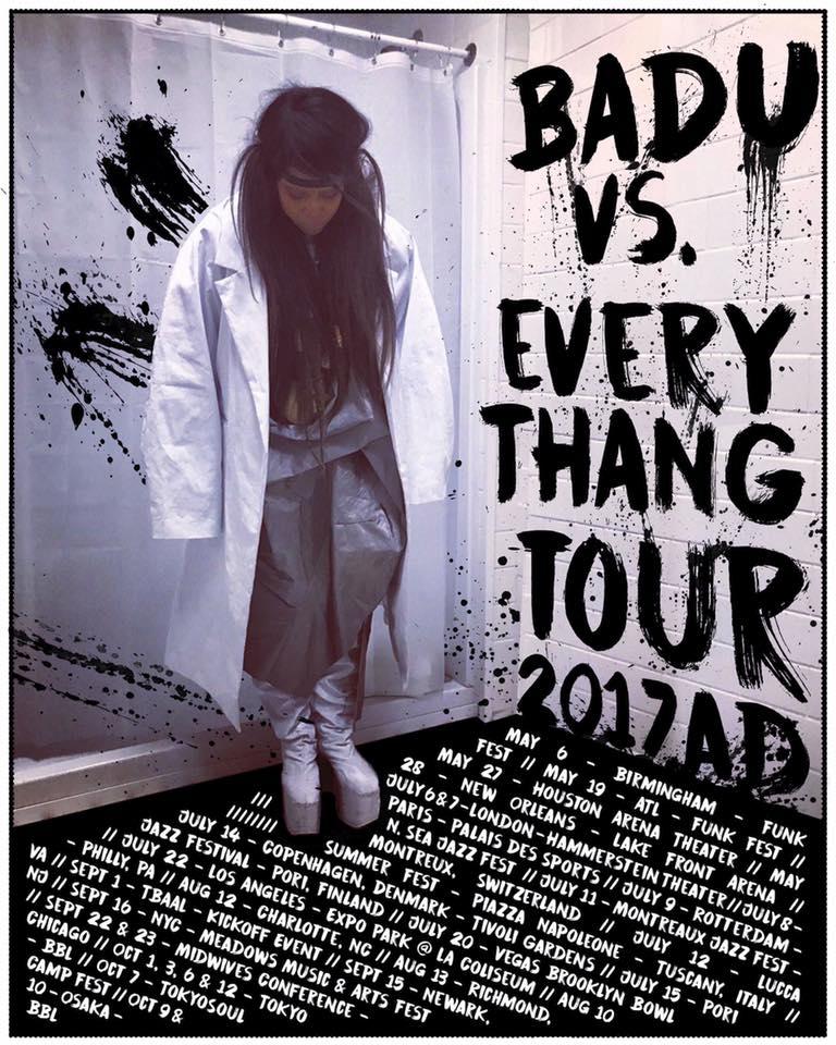 Erykah Badu tour dates