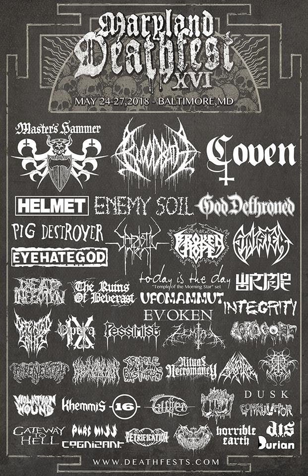 Maryland Deathfest 2018 lineup