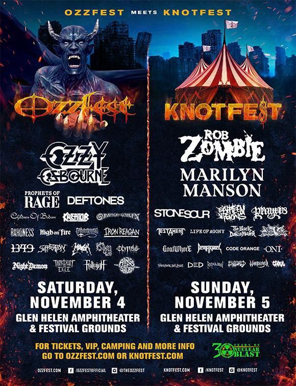Ozzfest Meets Knotfest 2017 lineup