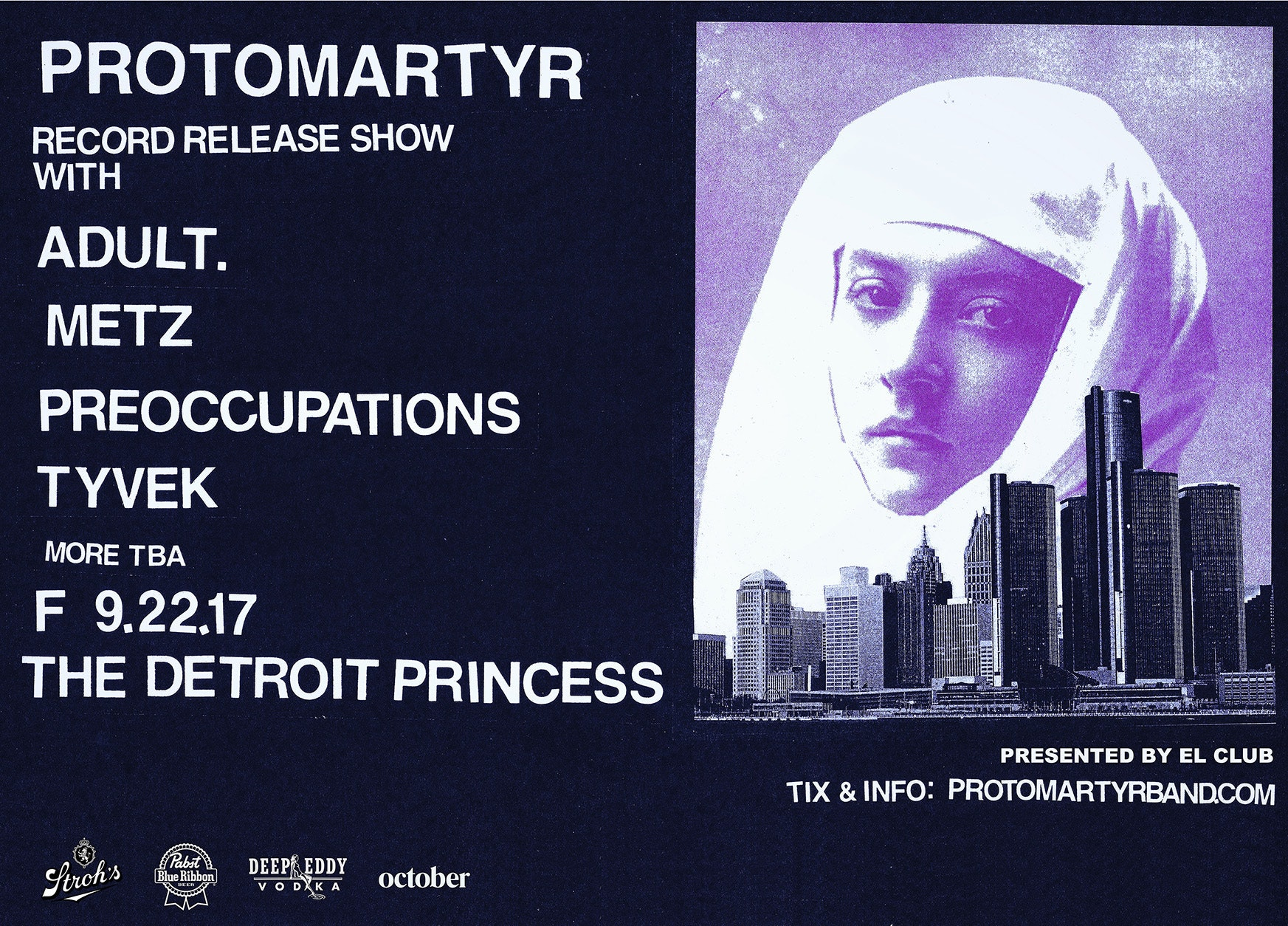 Protomartyr record release show boat