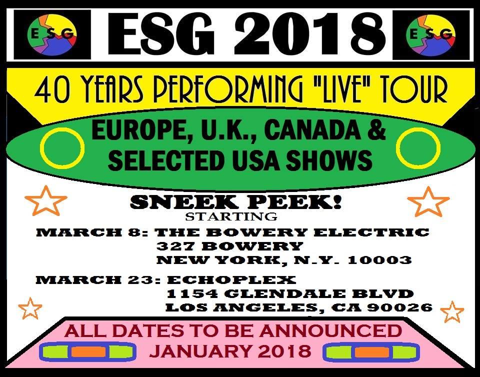 ESG tour dates 2018