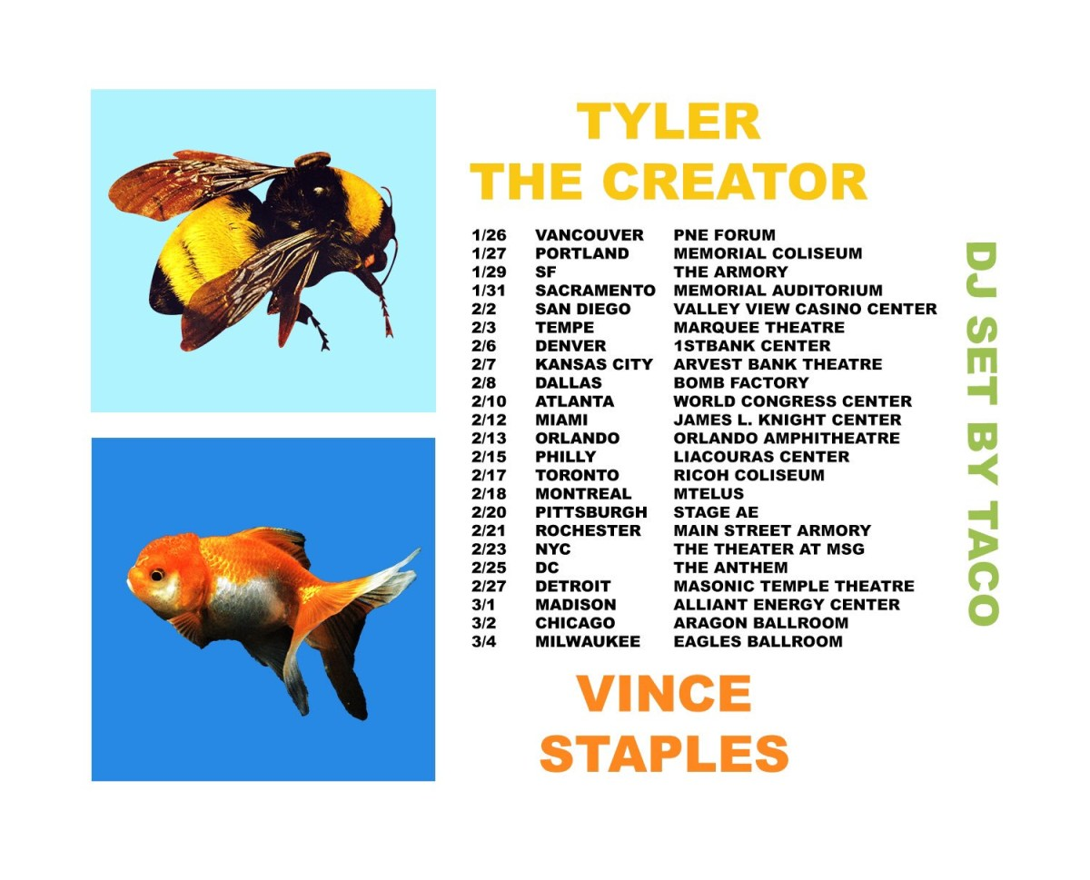 Vince Staples Tyler the Creator tour dates