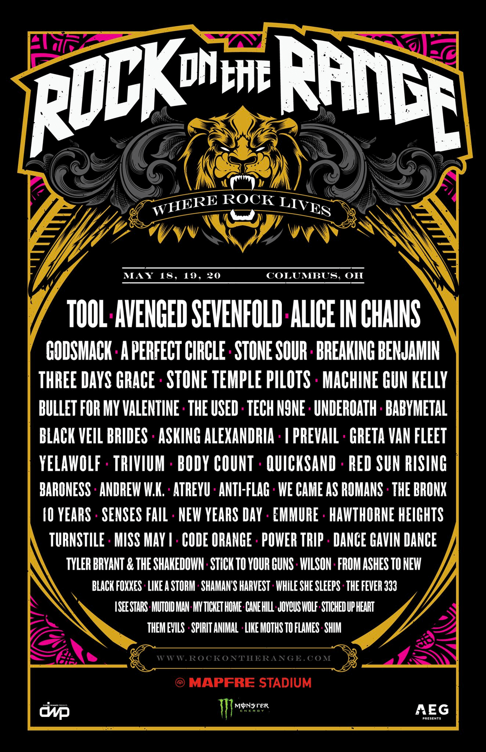 Rock on the Range 2018 lineup