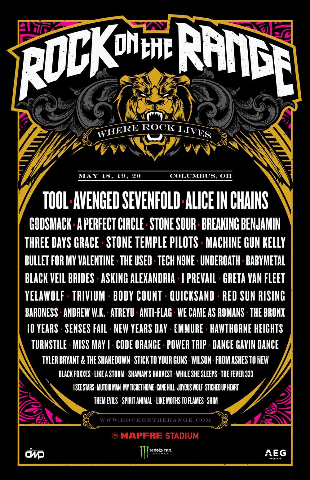 Rock on the Range 2018 lineup
