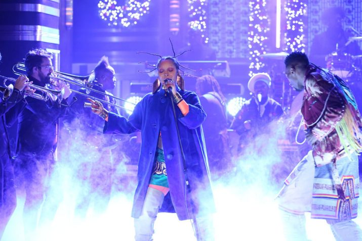 Erykah Badu Fallon performance