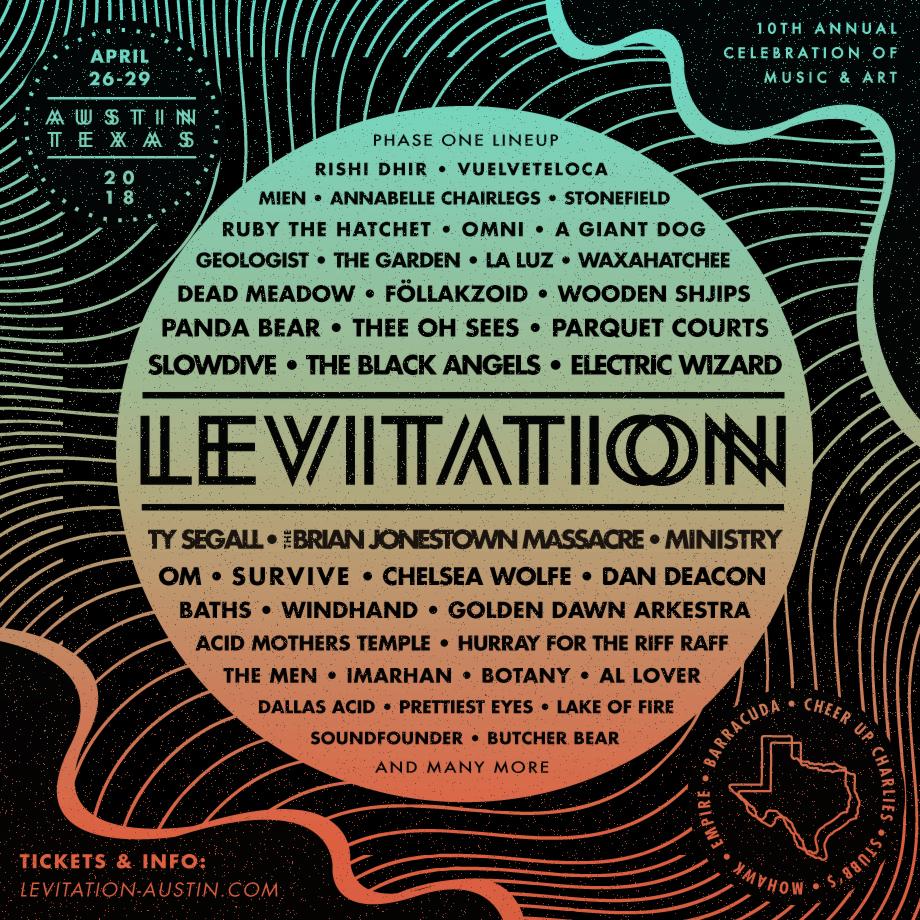 Levitation 2018 lineup