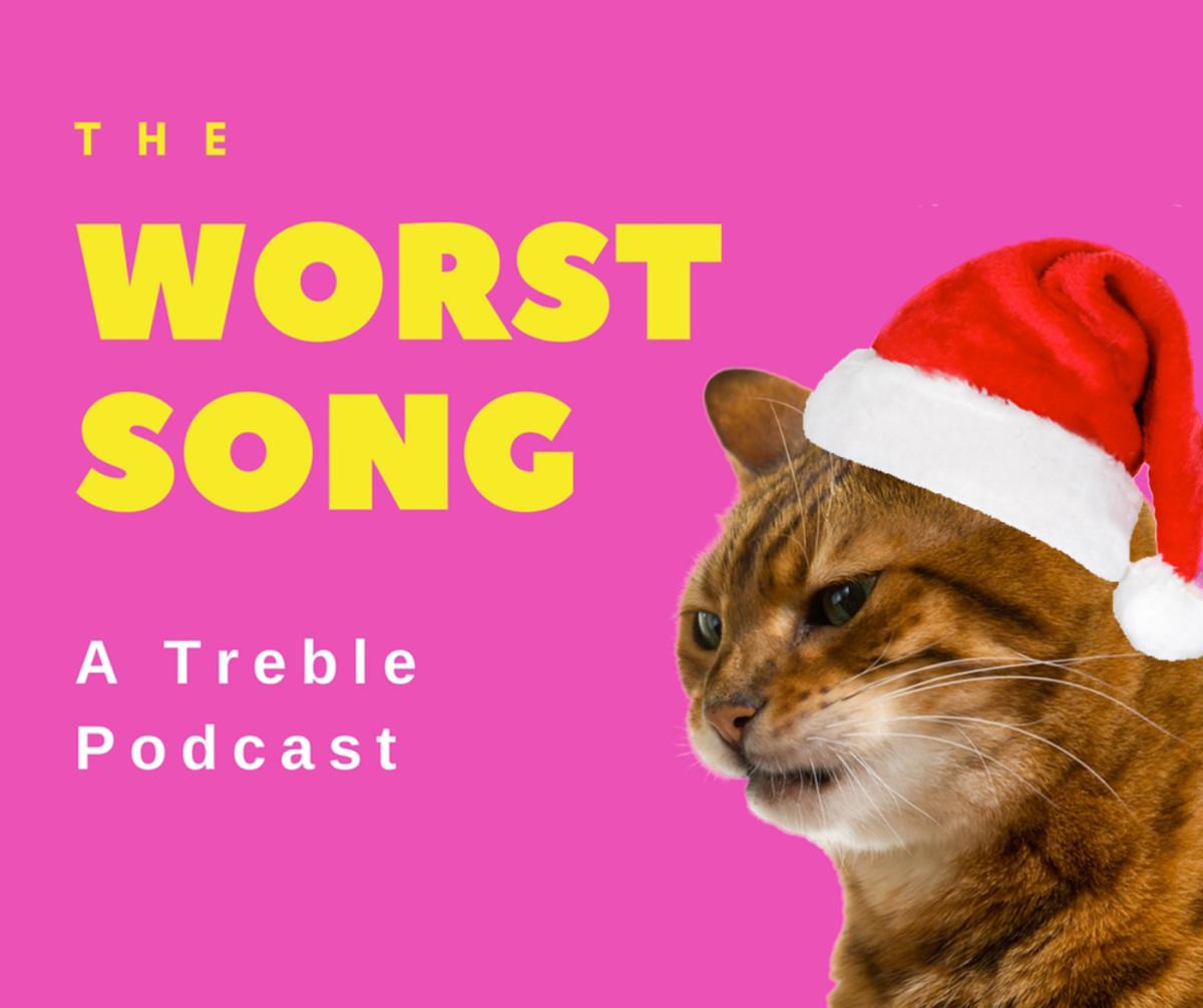 Disgruntled cat in a Santa hat