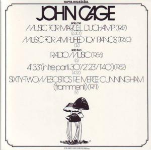 stunt songs John Cage