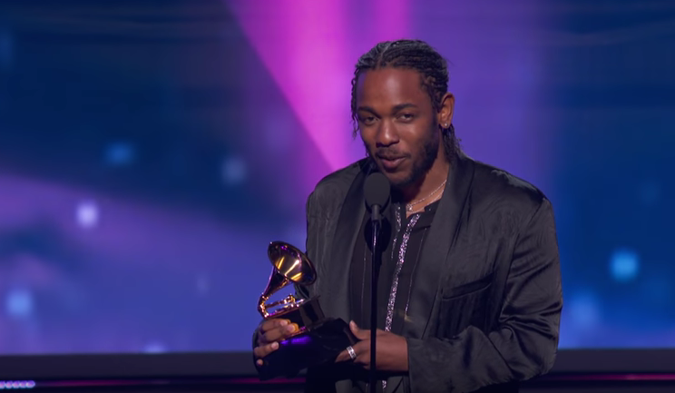 Kendrick Lamar at the Grammys
