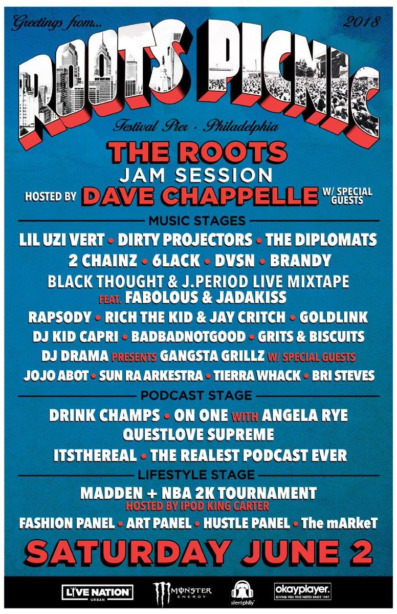 Roots Picnic 2018 lineup