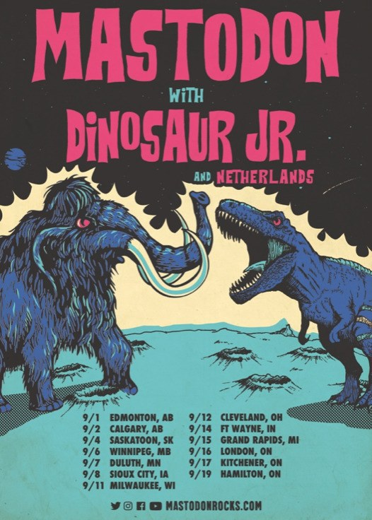 Mastodon Dinosaur Jr. tour