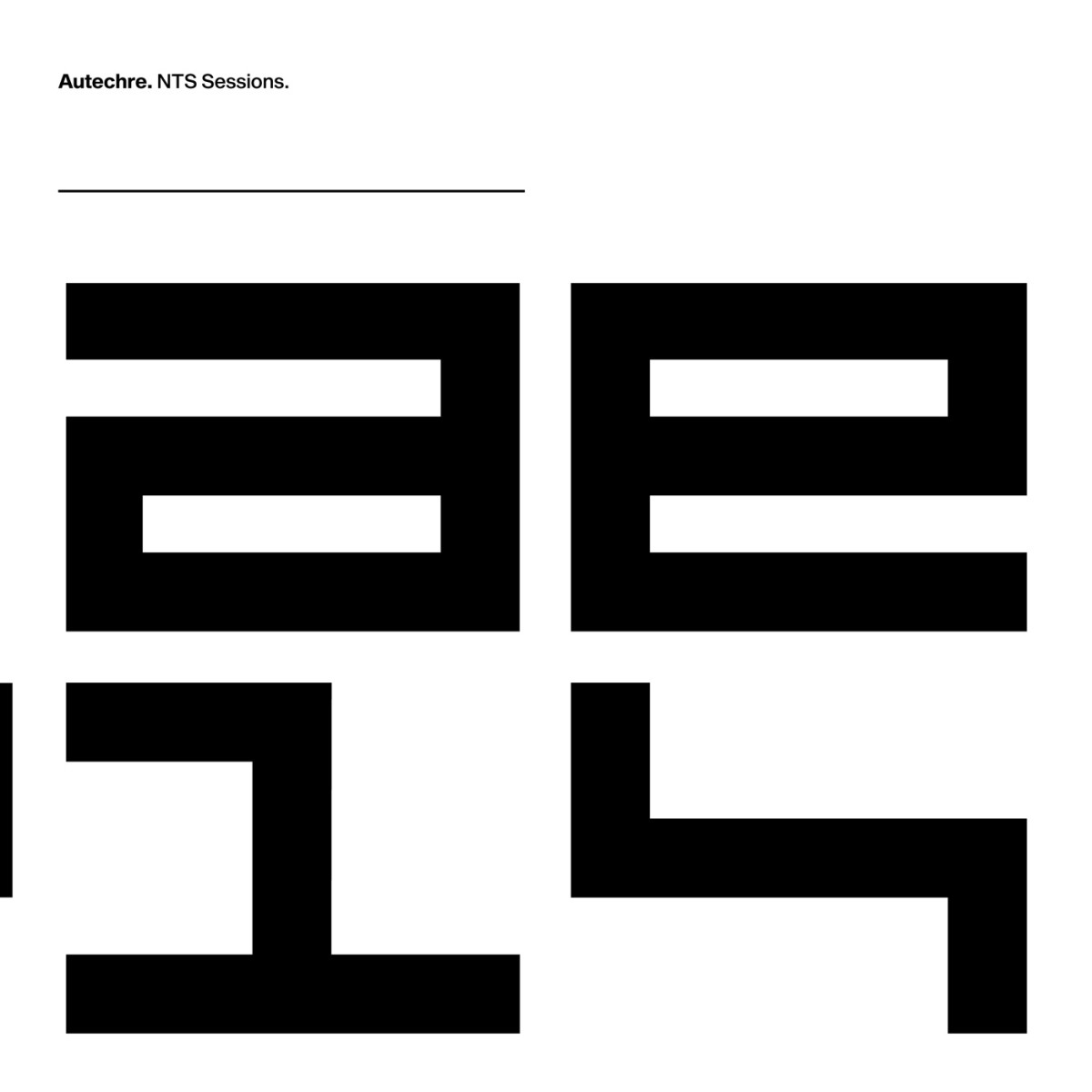 Autechre new box set NTS Sessions
